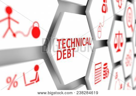 Technical Debt Concept Cell Blurred