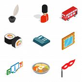 State Of Affairs Icons Set. Isometric Set Of 9 State Of Affairs Vector Icons For Web Isolated On Whi poster