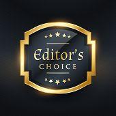 Editors Choice Golden Label Design poster