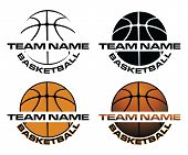 Basketball Designs With Team Name Is An Illustration Is An Illustration Of A Four Versions Of A Bask poster
