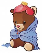 picture of snot  - A sick teddy bear - JPG