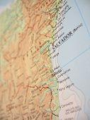 Постер, плакат: Карта Баия Бразилия 2