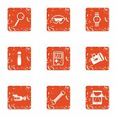 Outdoor Recreation Icons Set. Grunge Set Of 9 Outdoor Recreation Vector Icons For Web Isolated On Wh poster