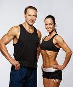 Постер, плакат: Красивая спортивная ый пара