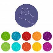 Mini Camera Icon. Outline Illustration Of Mini Camera Vector Icon For Web poster