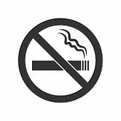 No Smoking Sign. No Smoke Icon. Stop Smoking Symbol. Vector Illustration. Icon For Public Places. Ep poster