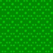 Irish Holiday. Saint Patricks Day. Leaves Clover. Seamless Vector Illustration. Irish Shamrock. St.  poster