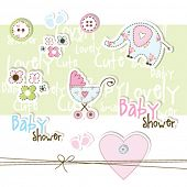 foto of baby feet  - Baby shower design elements - JPG
