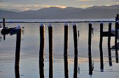 picture of burlington  - A sunset on Lake Champlain in Vermont - JPG