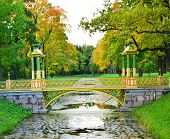 foto of tsarskoe  - Bridge across canal in Alexander - JPG