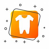White Baby Clothes Icon Isolated On White Background. Baby Clothing For Baby Girl And Boy. Baby Body poster