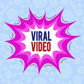 Conceptual Hand Writing Showing Viral Video. Business Photo Text The Video That Becomes Popular Thro poster