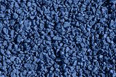 Granite Gravel. Blue Crushed Rocks For Construction On The Ground. Gravel Macadam Road Texture Or Ba poster