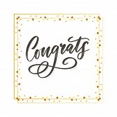 Congrats Congratulations Card Lettering Calligraphy Text Brush poster