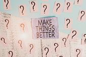 Text Sign Showing Make Things Better. Conceptual Photo Do Something To Improve Oneself Be The Change poster