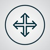 Navigation Icon Colored Line Symbol. Premium Quality Isolated Crossroad Element In Trendy Style. poster
