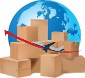 International Air Transport Flight Packing Boxes International Air Transport Flight Packing Boxes poster