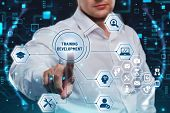Business, Technology, Internet And Network Concept. Coaching Mentoring Education Business Training D poster