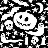 pic of drakula  - Halloween seamless pattern - JPG