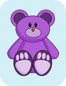 Cute Purple Bear poster