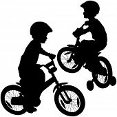 picture of pornographic  - boy and bicycle silhouette - JPG