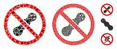 No Peanut Icon Composition Of Humpy Items In Various Sizes And Shades, Based On No Peanut Icon. Vect poster