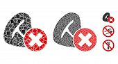 Stop Meat Eating Icon Composition Of Unequal Items In Various Sizes And Color Tones, Based On Stop M poster