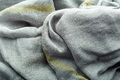 Wave Gray Textile Material Texture As A Background. Grey Textile Pattern For Design In Fashion As Ab poster