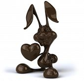 picture of dessin  - Chocolate rabbit - JPG