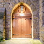 stock photo of brownstone  - Entrance of a house - JPG