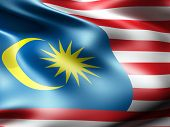 picture of malaysia  - Malaysia country flag 3d illustration - JPG