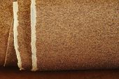 Sandpaper On Wooden Background
