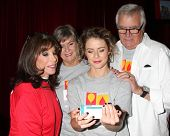 LOS ANGELES - OCT 6:  Kate Linder, Char Griggs, Linsey Godfrey, John McCook at the Light The Night T