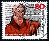 Postage Stamp Germany 1986 Carl Maria Von Weber, Composer