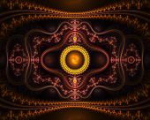 stock photo of mandelbrot  - Oriental fractal mandelbrot artwork - JPG