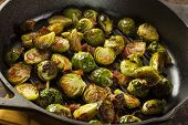 picture of brussels sprouts  - Homemade Grilled Brussel Sprouts with Fresh Bacon - JPG