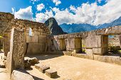 pic of cultural artifacts  - Inca Wall in Machu Picchu Peru South America - JPG