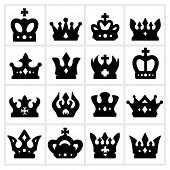 stock photo of evil queen  - Crown icon  - JPG