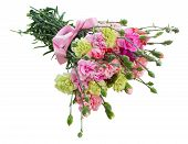 foto of carnations  - bouquet of carnation flowers isolated on white background - JPG