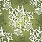 foto of strawberry plant  - Vector Seamless Decorative Pattern with Strawberry - JPG
