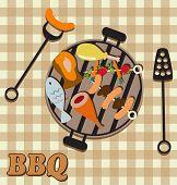 image of briquette  - bbq set - JPG