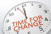 stock photo of evolve  - An image of a nice clock with time for change - JPG