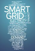 stock photo of smart grid  - Word Cloud with Smart Grid related tags - JPG