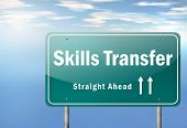 stock photo of transfer  - Highway Signpost image with Skills Transfer related wording - JPG