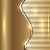 pic of curves  - Vector abstract beige metallic background with curve and stripes - JPG