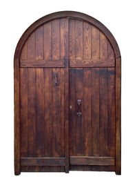 picture of entryway  - old wooden door isolated with clipping path - JPG