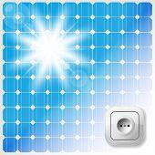 stock photo of electric socket  - Solar Panel - JPG