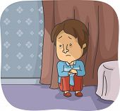picture of emo  - Illustration Featuring a Depressed Man - JPG