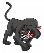 picture of panther  - Panther Editable  - JPG