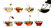 image of black tea  - Tea time concept - JPG